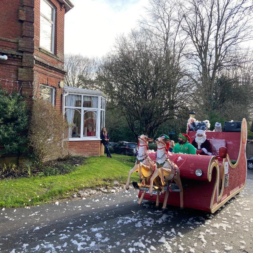 Santa Sleigh at Brackenlea Care Home