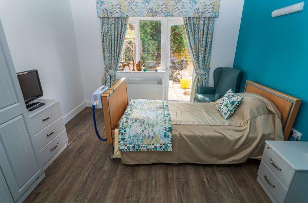 Solent Cliffs Nursing Home Bedroom